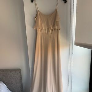Jenny Yoo Maxi Dress in Chai